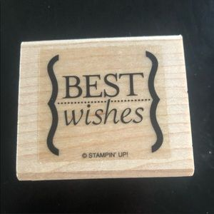 "3/$15 Stampin' Up! 2004 ""Best Wishes"" Stamper"